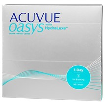 ACUVUE OASYS 1-Day with HydraLuxe 90pk contacts