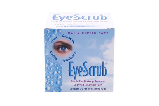 Novartis Eye Scrub Cleansing Pre-Moistened Pads SkincareTreatments