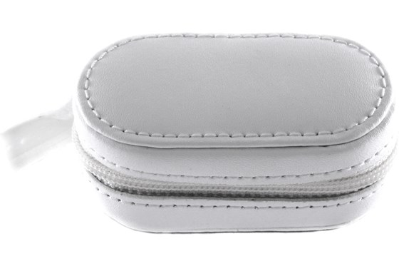 Amcon Leather Contact Lens Cases Cases - White