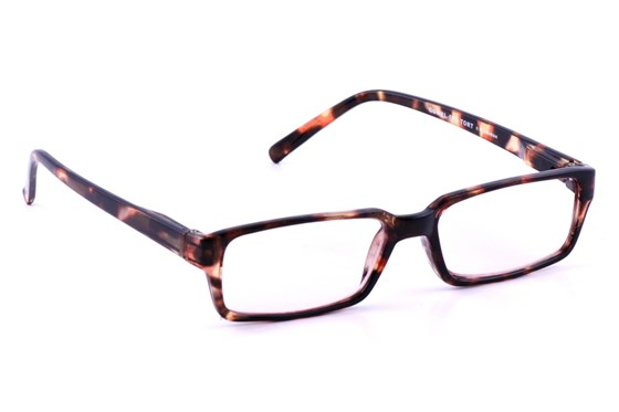 CalOptix Rectangle Plastic Tortoise Frame Computer Glasses ComputerVisionAides - Tortoise