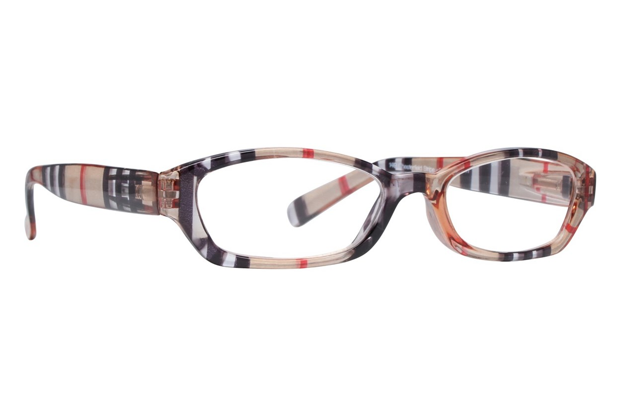 Peepers Chesterfield Stripe Designer Reading Glasses  - Brown