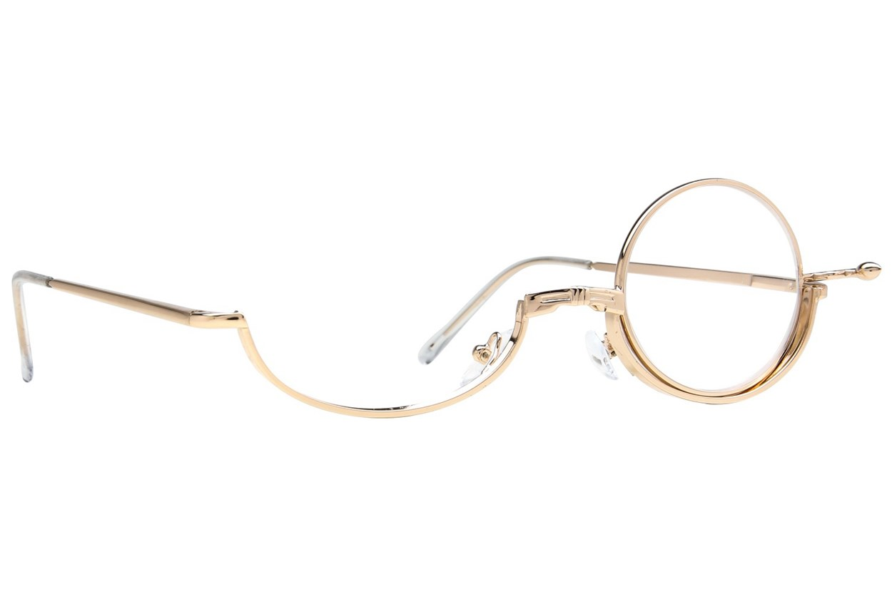 Amcon Metallic Makeup Glasses  - Gold