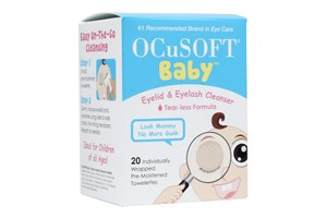 Click to swap image to Ocusoft Baby Tearless Eyelid and Eyelash Cleanser