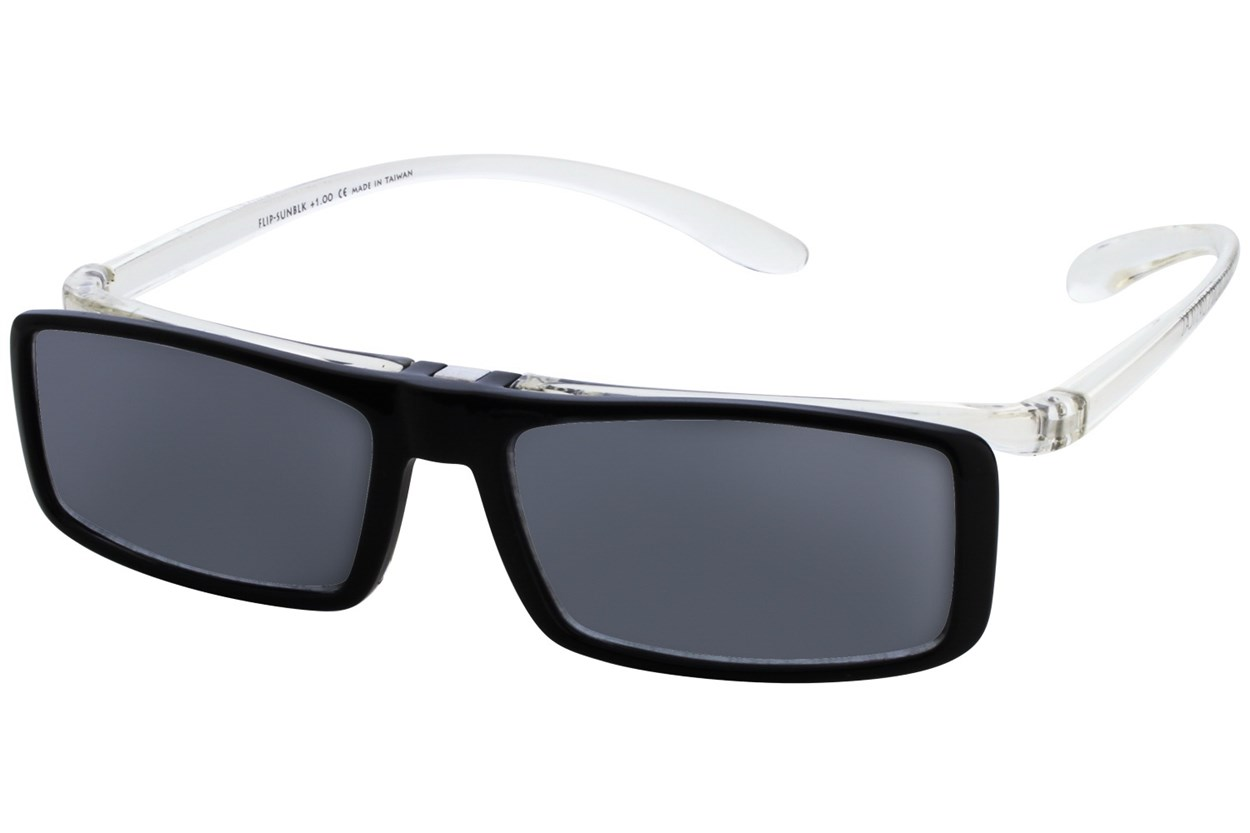 Alternate Image 3 - I Heart Eyewear Flip-Up Reading Sunglasses ReadingGlasses - Black