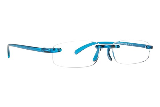 I Heart Eyewear Twisted Specs ReadingGlasses - Blue