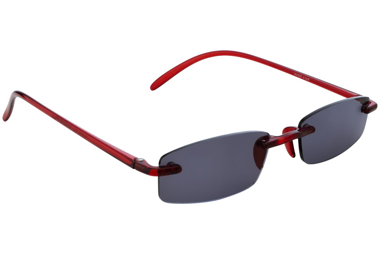 Alternate Image 1 - I Heart Eyewear Twisted Sun Specs  - Red