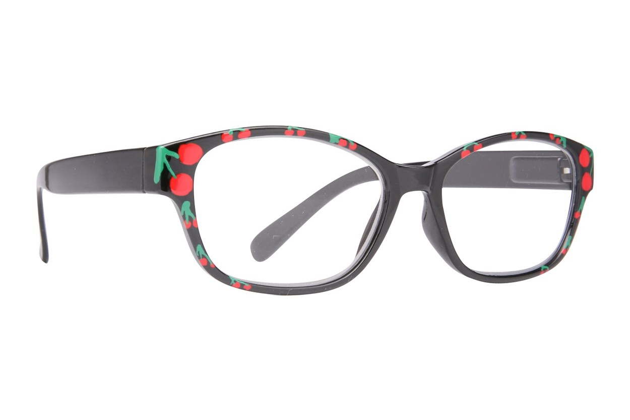 Evolutioneyes Handpainted Cherry Reading Glasses ReadingGlasses - Black