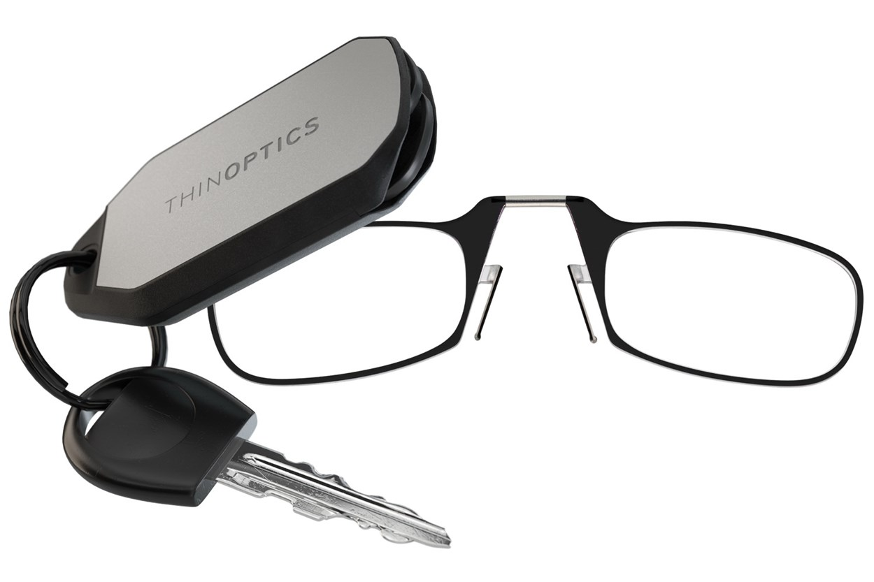 ThinOPTICS Keychain Case & Readers  - Black