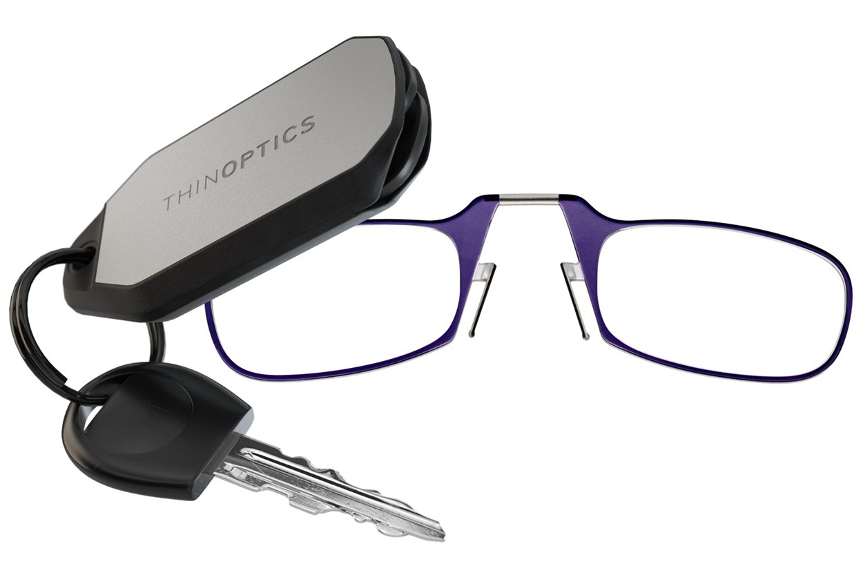ThinOPTICS Keychain Case & Readers  - Purple