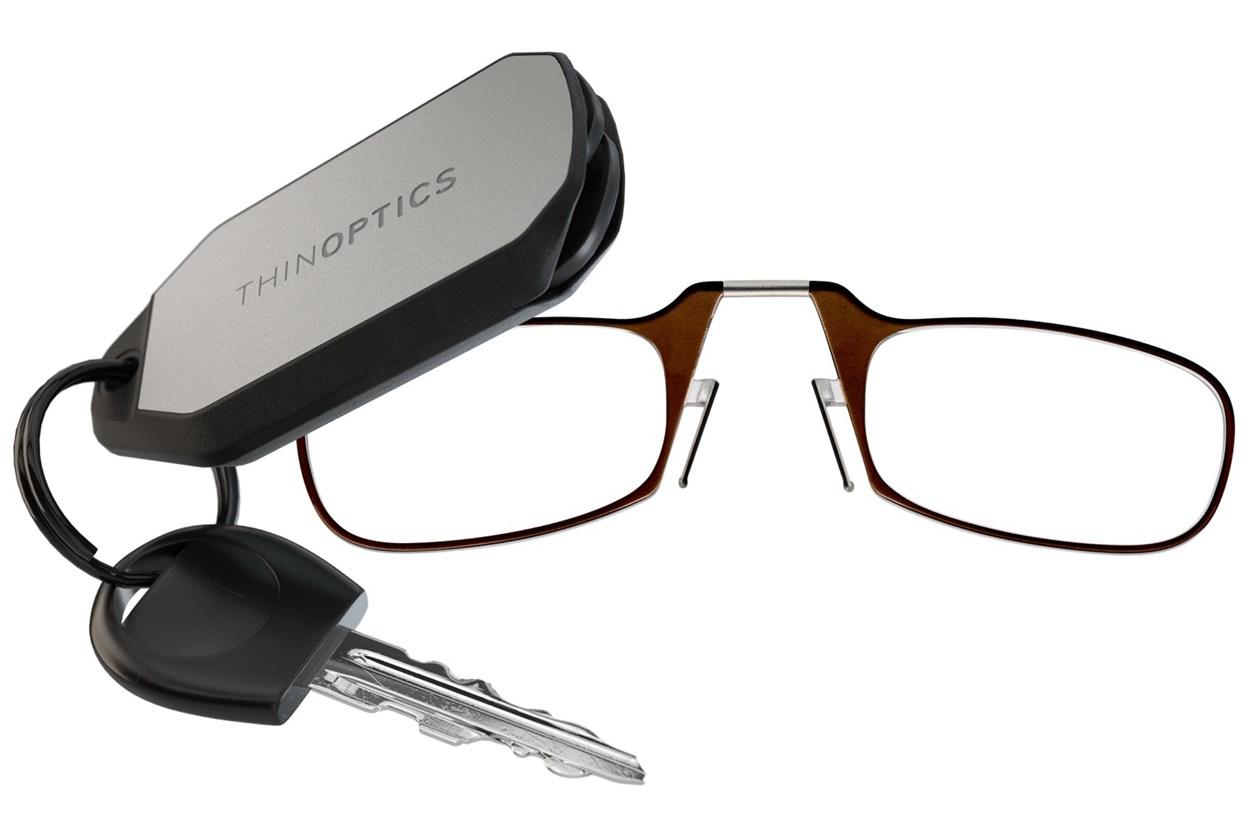 ThinOPTICS Keychain Case & Readers  - Brown