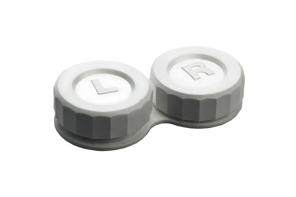 General Boilable Screw-Top Contact Lens Case Cases - White